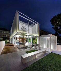 An Impressive House Out of a Floating Box in Singapore | Home Design Lover