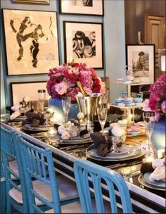 Dinner party table idea!!