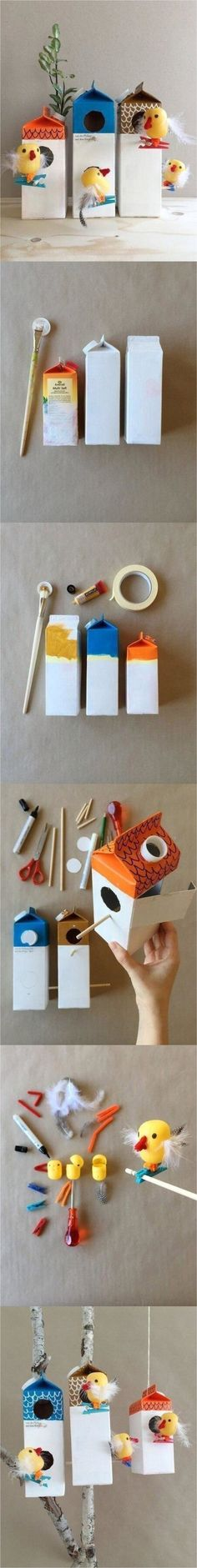 Bird Crafts, Cute Crafts, Diy And Crafts, Arts And Crafts, Creative Kids, Creative Crafts, Diy For Kids, Crafts For Kids, Preschool Themes