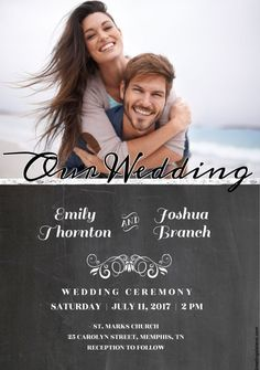 Create Your Own Wedding Invitations with These Free Templates: Free Wedding Invitation Templates at Greetings Island Free Printable Wedding Invitations, Chalkboard Wedding Invitations, Wedding Invitation Kits, Reception Invitations, Engagement Party Invitations, Diy Invitations, Invitations Online, Invitation Ideas, Wedding Stationery