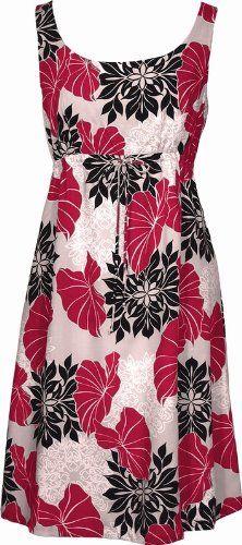 Amazon.com: Hawaiian Quilt Hawaiian Dress - Womens Hawaiian Dress - Aloha Dress - Hawaiian Clothing - 100% Rayon Red: Clothing