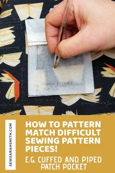 It's been years since sewing my last pair and they finally gave up the ghost. Sewing Tips, Sewing Tutorials, Sewing Hacks, Sewing Patterns, Pattern Matching, Pocket, Knitting, Fabric, How To Make