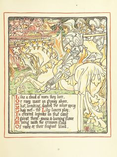 Image taken from page 45 of 'Queen Summer; or, the Tourney of the lily & the rose. Penned & portrayed by Walter Crane'   by The British Library