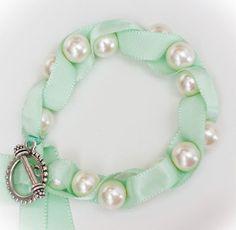 Love Coco Twisted Ribbon Pearl Bracelet