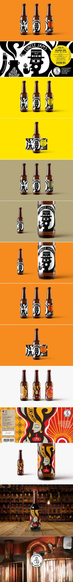 "This ""Strange Brew"" Has A Mysterious Yet Playful Look — The Dieline Beer Packaging, Food Packaging Design, Packaging Design Inspiration, Brand Packaging, Branding Design, Label Design, Package Design, Graphic Design, Bottle Design"