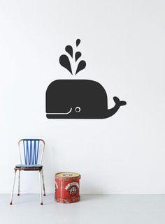 ferm LIVING - Whale - wallsticker sort