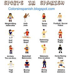 All the sports in Spanish