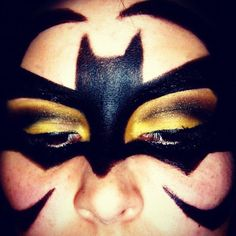 Bat makeup halloween eye shadow eyeshadow bat girl bat gurl bat woman