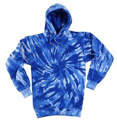 Tie Dye Spiral Blue Hoodie