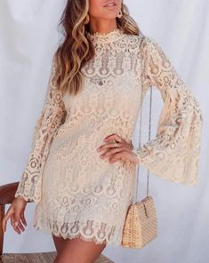 Fabric Name: Cotton BlendMain fabric composition: nylon / nylonColor: ApricotSize: S, M, L Size Chart Size unit Bust Waist Length Sleeve Shoulder Hip S cm 86 75 101 59 39 90 inch M cm 90 79 105 60 40 94 inch L cm 94 83 109 61 41 98 in Modest Dresses, Fall Dresses, Short Sleeve Dresses, Long Sleeve, Short Sleeves, Stylewe Dresses, Flare, Elegant Dresses For Women, Prom Dress Shopping