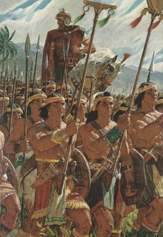 """""""Helaman's Two Thousand Stripling Warriors"""" by Arnold Friberg - (Alma, Chapter Book of Mormon) Funny Mormon Memes, Lds Memes, Lds Quotes, Church Memes, Church Humor, Church Quotes, Book Of Mormon Stories, Stripling Warriors, Saints Memes"""