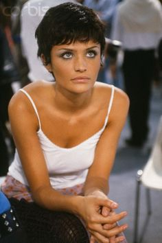 Helena Christensen, Paris Fashion Week Spring/Summer, 1993.