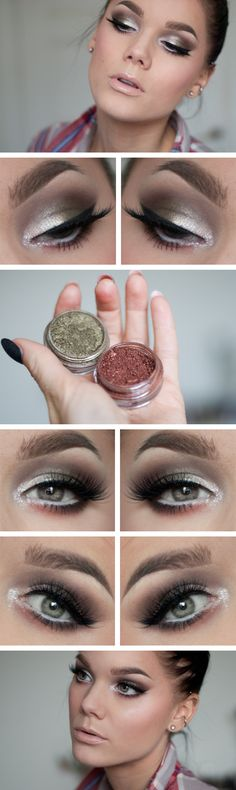 Gold and Copper Smokey Eyes