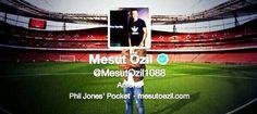 Mesut Ozils new twitter location