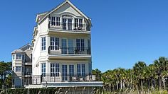 Bradley Beach Circle 20 - This fabulous 5 bedroom, 5 bathroom, ocean front home is one of our most popular direct ocean front properties.