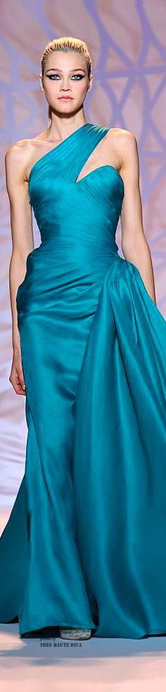 Zuhair Murad Haute Couture Fall/Winter 2014-15 ❥The Lady in Teal❥slcj❥❥