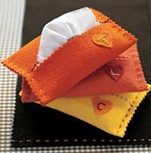 MULTIARTE: porta pañuelos en fieltro