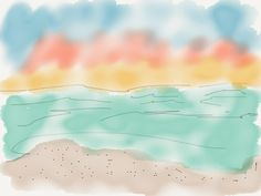 "Don't miss this one by jerryfessart #madewithpaper #enclavedepod (o) http://ift.tt/1Yr92Cy""Beach"" digital watercolor by Jerry Fess Art #beach #beachlife #digitalart #digitalwatercolor #art #ipad  #watercolor #etsy #etsyseller #etsyshop"