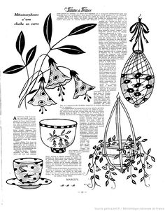 Vintage Embroidery, Ribbon Embroidery, Embroidery Patterns, Sewing Patterns, Vintage Crafts, Vintage Sewing, L'art Du Ruban, Couture Vintage, Ribbon Art