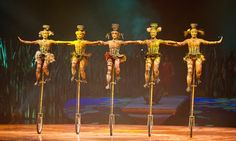 Cirque Du Soleil Totem - unicycle bowl jugglers. These 5 girls were amazing