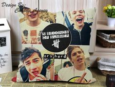 """5 Second of summer M - Pillow Case One Side/Two Side This standard pillowcase is roomy in size (16"""" x 16""""),(18"""" x 18""""),,(20"""" x 20""""),(20"""" x 30""""),(16"""" x 24"""") and (20"""" x 36"""") has been designed to add sophistication and style to your bedroom. The custom pillowcase is without buttons, and has an opening on the side."""