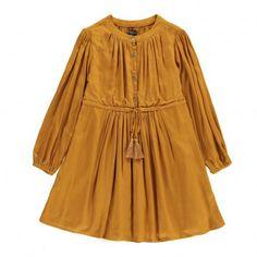 Poppy Dress Mustard  Velveteen