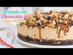 Receta de brownie facil y receta relleno de cheesecake dulce de leche facil. YouTube
