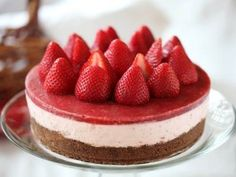 Recipe:  No-Bake Strawberry Cheesecake