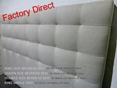Bedhead Factory Direct to public Factory Showroom 100 Gaffney Street Coburg North Melbourne Phone 93501699