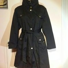 Ellen Tracy  trench coat nwot Check pictures for details,with hoodie which can be folded in collar and lined Ellen Tracy Jackets & Coats Trench Coats