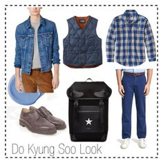 """DoKyungSoo Look"" by ruriiyy on Polyvore featuring L.L.Bean, Paraboot, Brooks Brothers, Levi's, Givenchy, Patagonia, men's fashion and menswear"