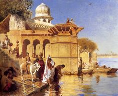 On the Ghats in Mathura, Edwin Lord Weeks