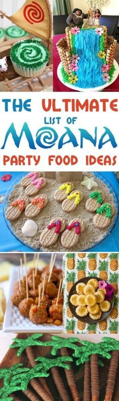 Moana Party Ideas! The only list you need for Moana party food ideas, because I know all of your little ones are begging for a Moana theme party this year! Find Moana cupcakes, Moana cookies, Moana snacks, Moana appetizers... all things MOANA!!