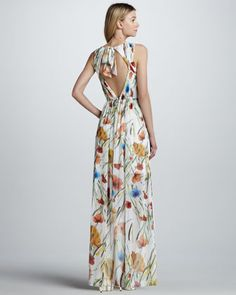 b7d7a514355 Alice + Olivia Mel Floral-Print Maxi Dress Eid Outfits