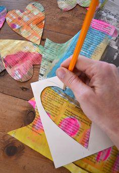 DIY love garland - Valentine's craft   small for big