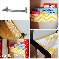 DIY Grundtal fabric sling bookcase - IKEA Hackers
