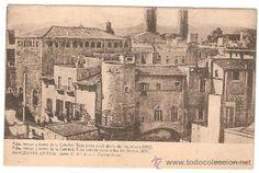 BARCELONA ANTIGA. SERIE II. Nº 5 PALAU MENOR Y TORRES DE LA CATEDRAL. VISTA ANTES DEL DERRIBO (1857) (Postales - España - Cataluña Antigua (...
