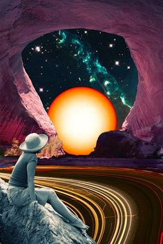surrealizm psychedellic and galaxy