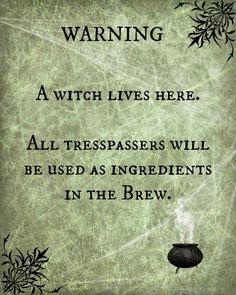 """""""A Witch Lives Here"""" printable"""
