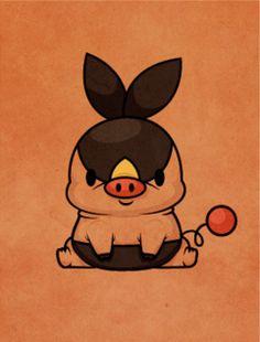 Pokemon - Tepig by ~beyx on deviantart