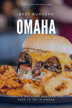 7 mouth-watering burgers to try in Omaha - Oh My! Omaha Omaha Restaurants, Kid Friendly Restaurants, Food Places, Best Places To Eat, Visit Omaha, Home Burger, Beet Burger, Smoked Ham, Stop Eating