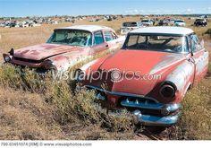Old, Abandoned Cars in Junk Yard, Desert Southwest, Southwestern ...
