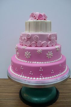 Sweet Pink wedding cake 1 by CAKE Amsterdam - Cakes by ZOBOT, via Flickr