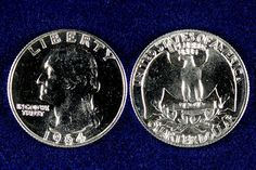 In 1932 a new design of the quarter was created to commemorate the 200th anniversary of George Washington's birth. The new design was so well received that the obverse image has been used almost unchanged ever since. The Washington quarter was originally struck in 90% silver unlike the quarters in circulation today. These proof Washington quarters were struck in 1964 and represent the last year of the original composition.