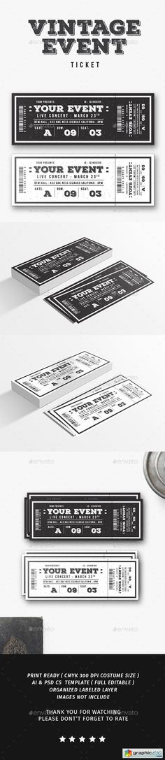 Multipurpose Stylish Event Ticket @creativework247 Invitation - free ticket printing