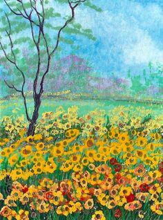 "LAST WEEK OF SALE - ACEO Original ""Spring Time"" Painting By Hélène Howse  #Miniature"