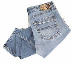 DIESEL Timmen Jeans 36 x 32 Regular Straight Leg Button Fly Blue Denim 00784 #DIESEL #ClassicStraightLeg