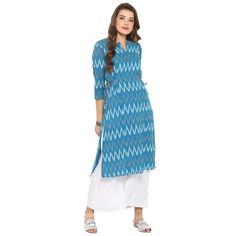 Handwoven Handloom by Darzaania Tunic Pattern, Top Pattern, Long Kurtas, Cotton Anarkali, Kurta Patterns, Kurta Designs Women, Batik Prints, Type Of Pants, Cotton Tunics