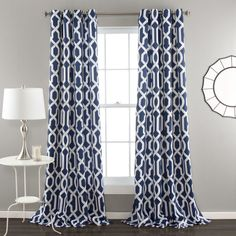 Lush Decor sells a variety modern curtains, such as the Edward Trellis Room Darkening Window Curtain Panel Set online. To view our selection, head over to our website today! No Sew Curtains, Thermal Curtains, Grommet Curtains, Blackout Curtains, Window Curtains, Bedroom Curtains, Target Curtains, Pattern Curtains, Blue Curtains