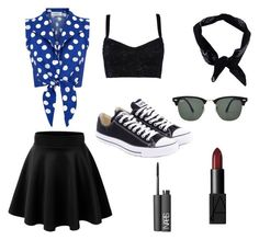 """Retro Style Outfit"" by cherryflame14 ❤ liked on Polyvore featuring Dolce&Gabbana, Converse, Boohoo, Ray-Ban and NARS Cosmetics"